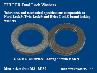 Fuller Fasteners supplies Dual Lock Washers